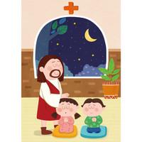 교회주일학교유치부현수막(기도)-112  ( 140 x 200 )
