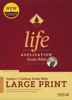 NIV: Life Application Study Bible, Third Edition, Large Print (Red Letter, 양장본, Indexed)