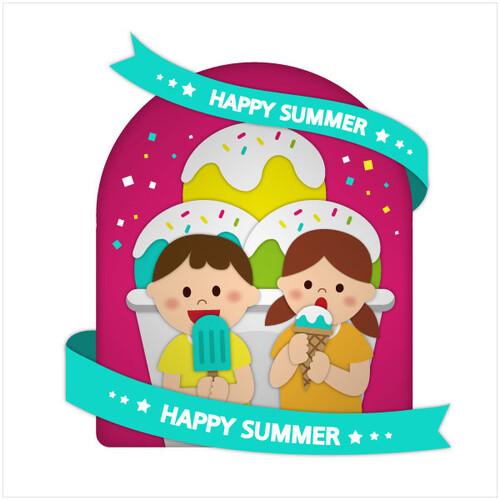 여름배경현수막(아이스크림)-509 ( 180 x 180 )