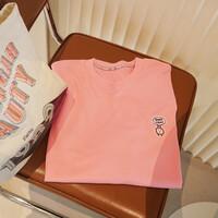 [블레슈] 굿뉴스 자수와펜 오버핏 맨투맨 - 핑크 (Pink)