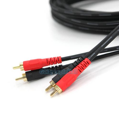 국산 음향 케이블 RCA(2P)-RCA(2P)