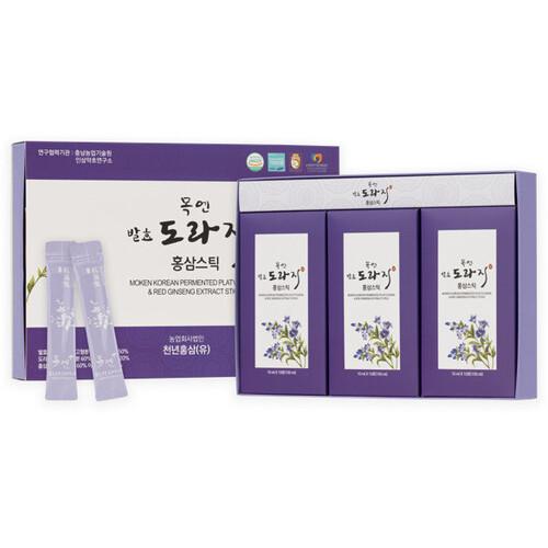 금산 장동교회 길미자 권사의 발효도라지스틱 선물세트 (10g*30스틱)