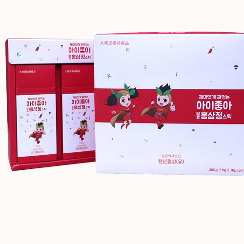 금산 장동교회 길미자 권사의 아이좋아 발효홍삼정스틱 선물세트 (10g*30스틱)