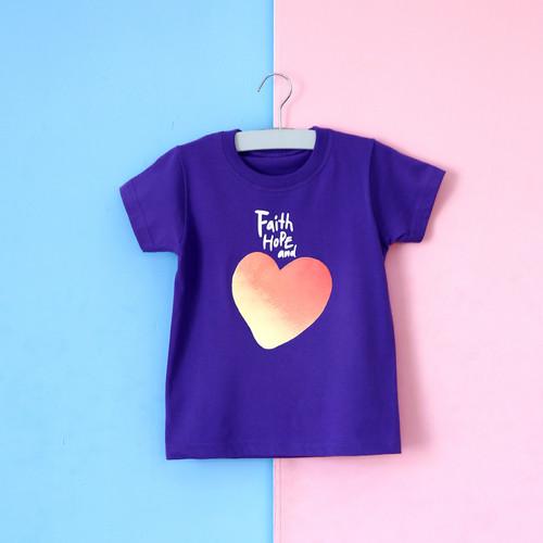 글로리월드 티셔츠 - 믿음소망사랑티(퍼플)