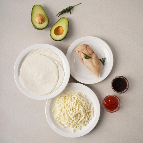 [기로스] 부리또 밀키트 세트 (닭가슴살1팩 치즈1팩 소스2개 또띠아5장)