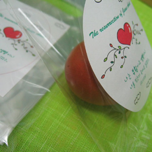 _사랑_ 부활절 계란 포장 비닐(달걀 비닐+스티커/ 50장 한셋트)