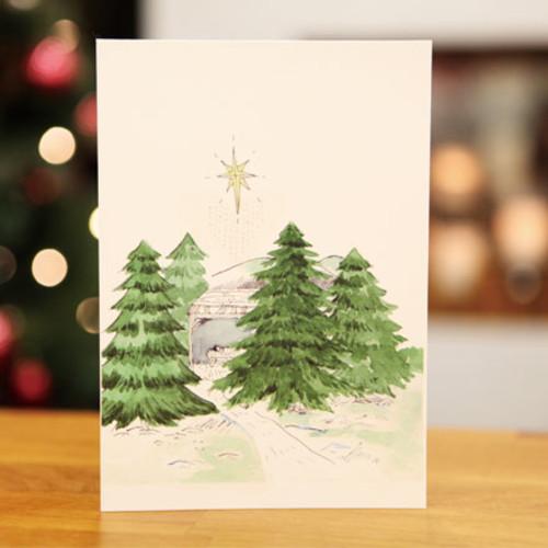 하베스터 크리스마스 카드 - 숲 속의 집