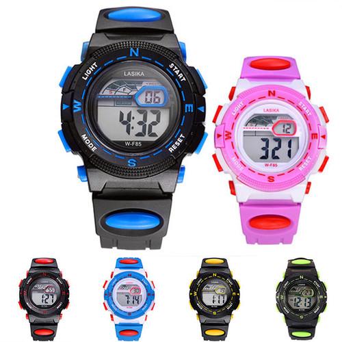 전자 손목시계  12색상 30M 방수 W-F85 (S 사이즈)