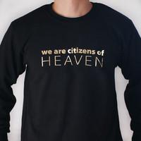 갓피플 맨투맨 티셔츠 - HEAVEN_GOLD (성인용)