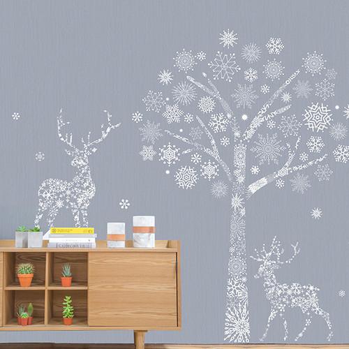 PSC-61010-61012세트 눈내리는 겨울숲 눈꽃나무아래 눈꽃사슴