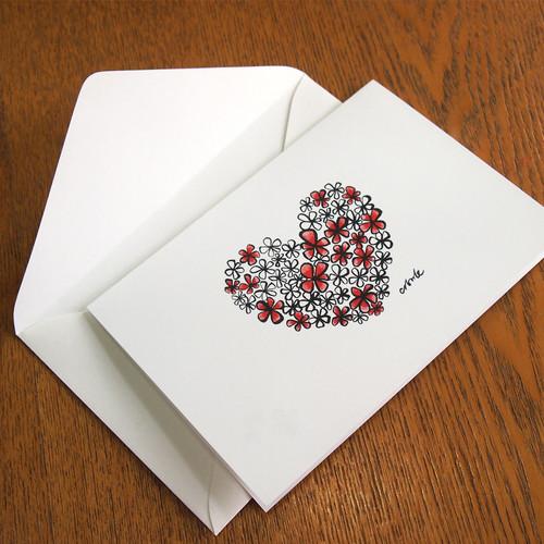 하트꽃카드
