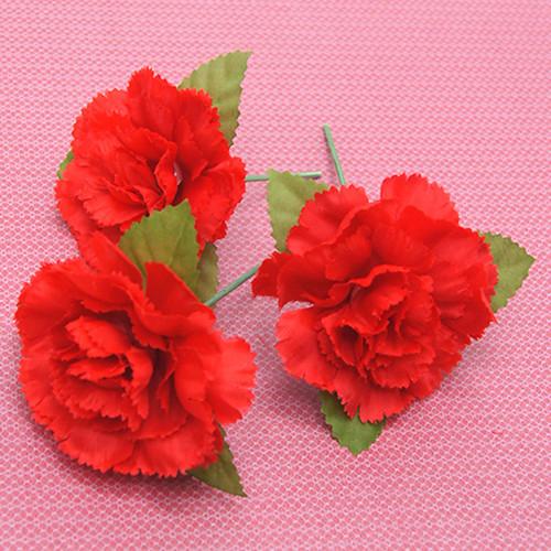 코사지 이벤트 선물포장 수업용 조화 꽃머리 플라워헤드 꽃잎 카네이션 레드 200개 세트