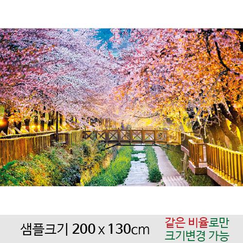 봄배경현수막(벚꽃)-114 (200 x 130)