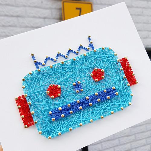 블루로봇 스트링아트(스펀지)