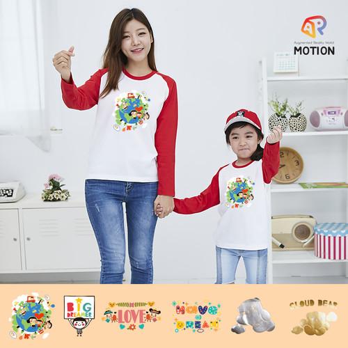 나그랑긴팔 티셔츠 AR모션 6종