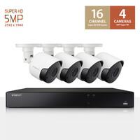 한화테크윈 와이즈넷 SDH-C85047BF 16채널 4카메라 CCTV 패키지