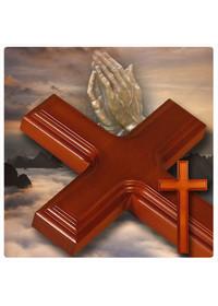 천연원목 십자가 - 예배실용 (1.5m)