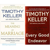 팀 켈러 원서 2종 세트: Every Good Endeavor(9781594632822) + Meaning of Marriage(9781594631870)
