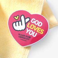 하트 압축수건_GOD Loves You