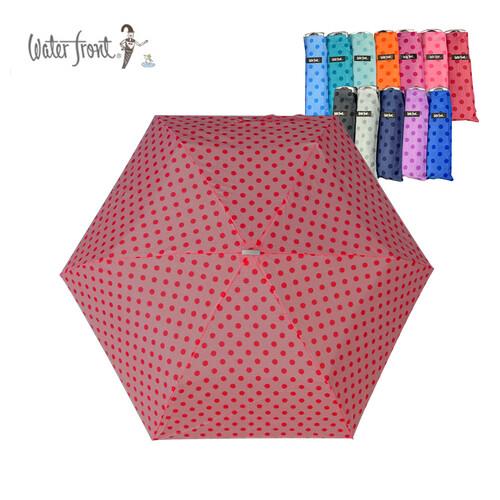 워터프론트 초경량 3단 도트 우산