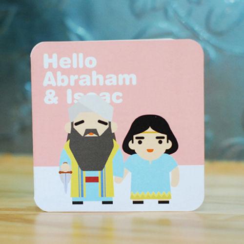 바이블 미니카드 -아브라함과 이삭