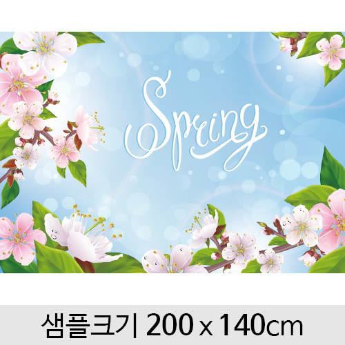 봄배경현수막(벚꽃)-120 (200 x 140)