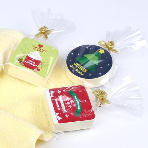 크리스마스 미니수건 (압축수건)