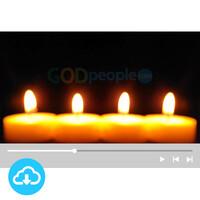 예배용 영상클립5 by 니카 / 촛불 / 성탄절 / 대림절넷째주 / 이메일 발송(파일)