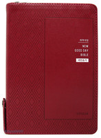 NEW 굿데이성경 중 합본 (색인/친환경PU소재/지퍼/은장/레드와인)