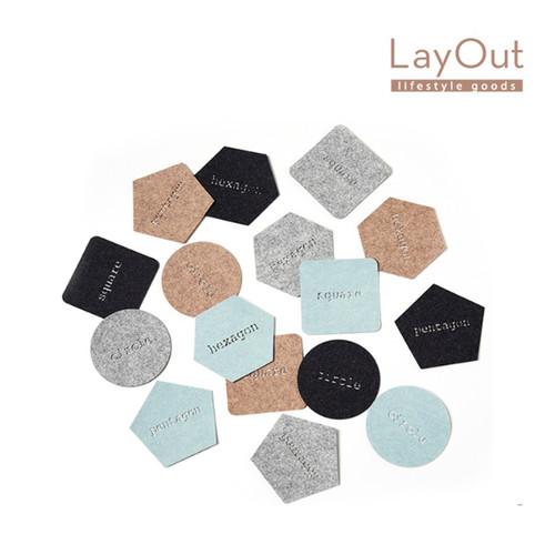 LayOut_티 코스터 Set (4pcs)