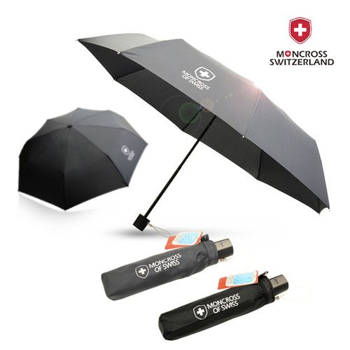 몽크로스 3단 솔리드 수동 우산