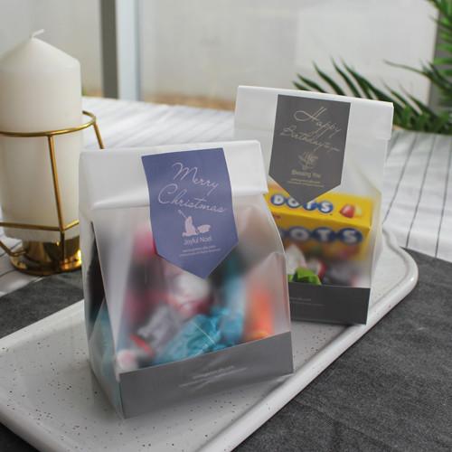 ver2.반투명비닐 무광스티커 받침-포장10세트(크리스마스/부활/생일/축복/사랑)-피터카페