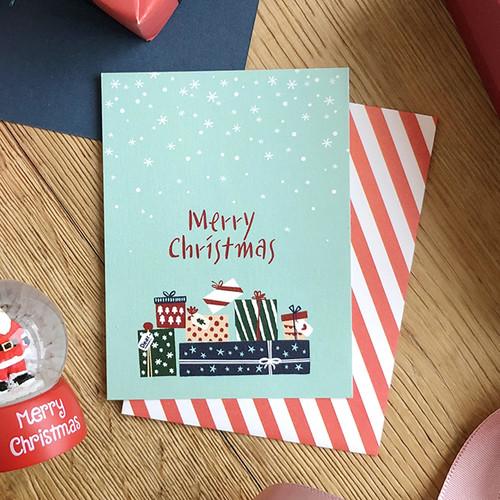 해피크리스마스 미니카드 - 기쁜선물