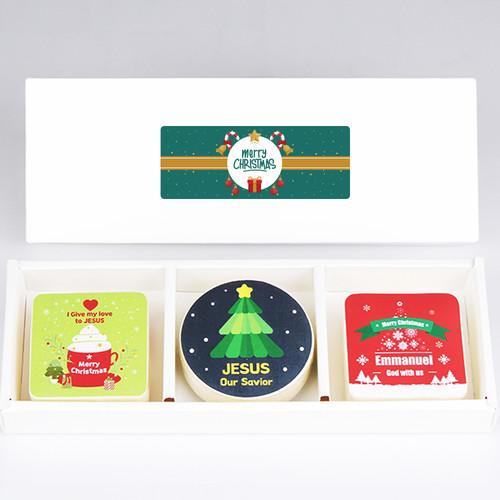 크리스마스 선물세트 (압축수건 3종세트)