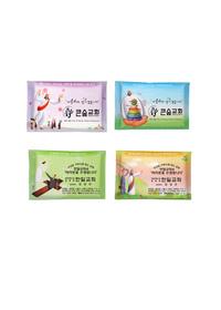 전도쇼핑백 증정-소지갑 사랑 티슈 - 4가지 디자인 1세트!