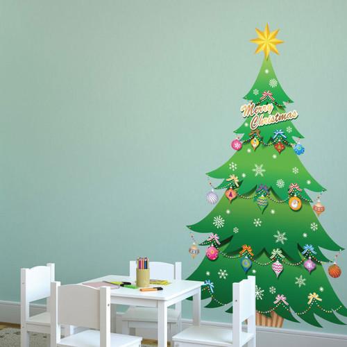 [포인트스티커] PSC-60005 크리스마스 트리/겨울 인테리어,크리스마스,트리,눈사람,구슬,루돌프,선물