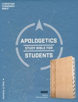 CSB: Apologetics Study Bible for Students, Natural Cloth Over Board, Indexed