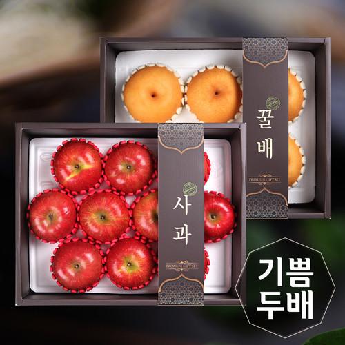[기쁨두배]사과1박스(10개)+배1박스(6개)