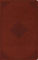ESV: Large Print Value Thinline Bible (TruTone, Tan, Ornament Design, Imitation Leather)