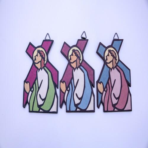 한지 수공예 골고다 십자가 (액자형)