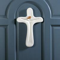 예수님 면류관 벽걸이십자가(골드큐빅) - 무광/유광