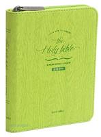 THE HOLY BIBLE 성경전서 슬림미니 단본(색인/이태리신소재/지퍼/라임/S2)