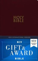 NIV: Gift and Award Bible (Leather-Look, Red Letter, Burgundy)