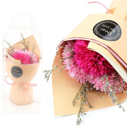 조화 어버이날 카네이션 비누꽃다발 드라이플라워 핑크 22cm