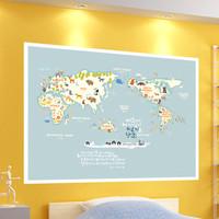 (뮤럴 벽지) 세계지도시리즈(포스터형)