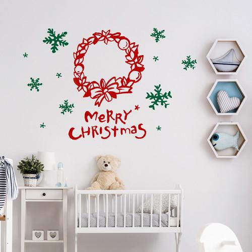 1AM 크리스마스 월데코 레터링/눈꽃 시트지 스티커