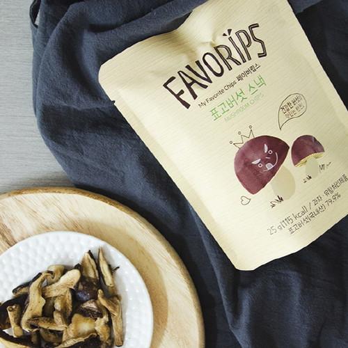 믿음영농조합 건강버섯야채칩 페이버립스 버섯스낵 25g