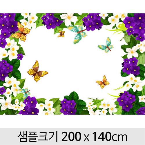 봄배경현수막(꽃밭)-109 (200 x 140 )