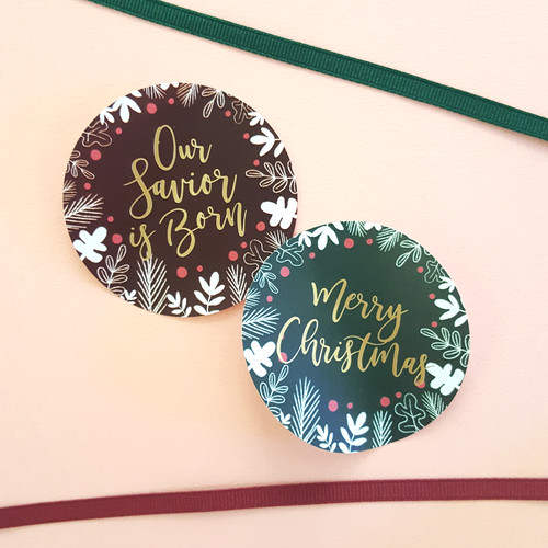 새가깃드는나무 크리스마스 스티커 set(레드 10매, 그린 10매, 총 20매)