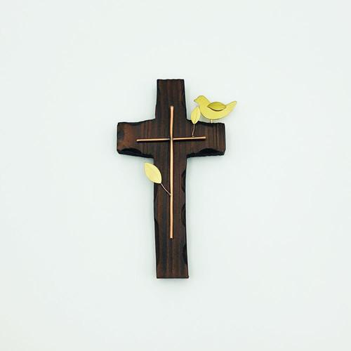 벽걸이 나무십자가(소) 옆새 /  자석부착겸용(신)